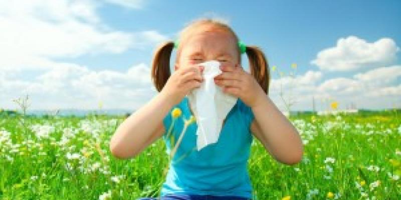 Little girl sneezing into tissue. Interstate Pest Management serving Portland OR & Vancouver WA talks about whether you have spring allergies or pest infestations.